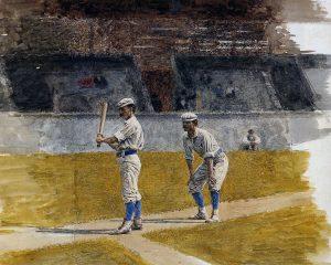 Baseball Players Practicing by Thomas Eakins 1875